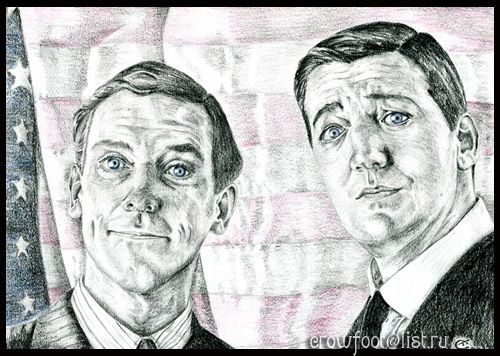 Hugh Laurie, Stephen Fry by TCrowfoot
